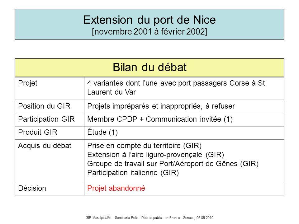 Extension du port de Nice [novembre 2001 à février 2002]
